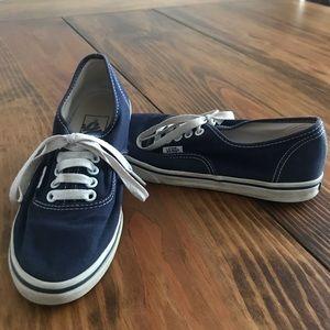 Vans Classic Blue Skateboard Shoes